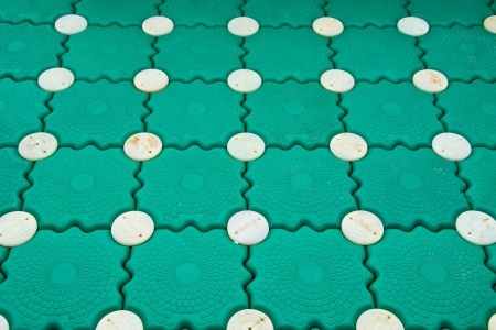 Green floor Plastic Stock Photo - 23981910