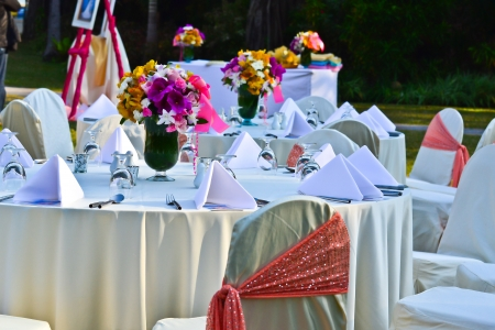 Table Setting at a Wedding Reception photo