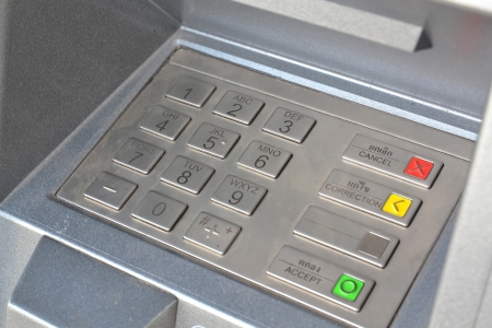 ATM keypad photo