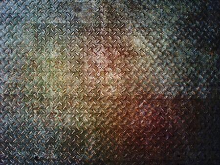 Grunge metal diamond plate background or texture Stock Photo - 25404883