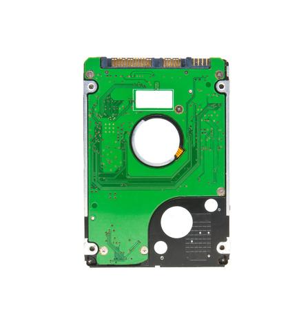 hard drive crash: Hard disk on white background
