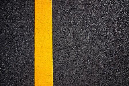 asphalt: Asphalt road with separation yellow lines