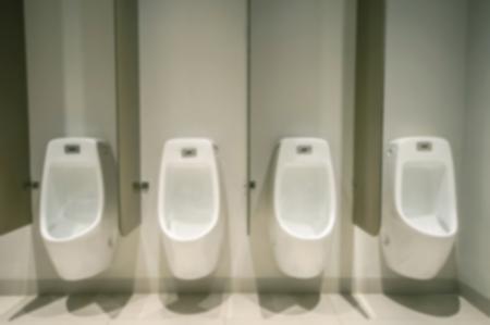 Abstract blur sort toilet urinals