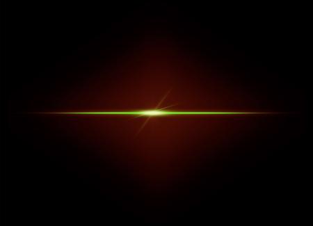 Lens flare light on black background Фото со стока