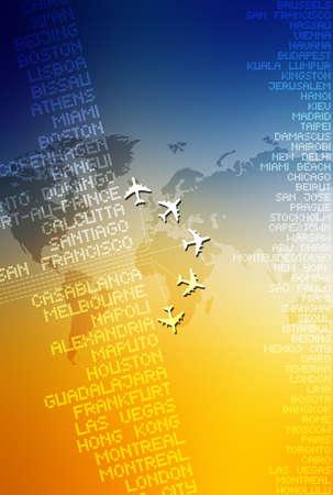 World travel computer illustration Imagens