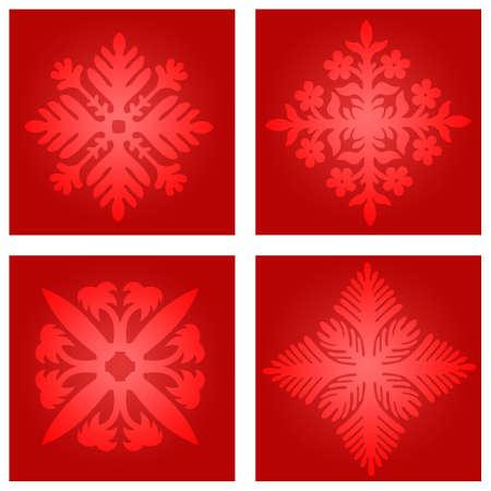 Snow flakes illustration Stock fotó