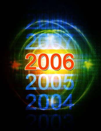 fin d annee: Computer illustration de l'ann�e 2006.
