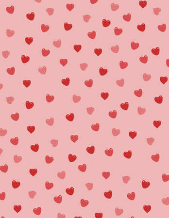 hottie: Background filled with red hearts
