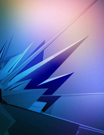 3D background with futuristic shapes.