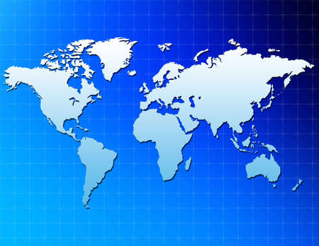 An unfolded map of the world 版權商用圖片