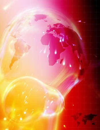 High tech render of the world. Standard-Bild