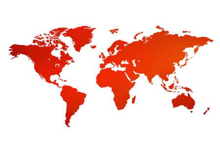 Entfaltet eine Karte der Welt Standard-Bild - 286739