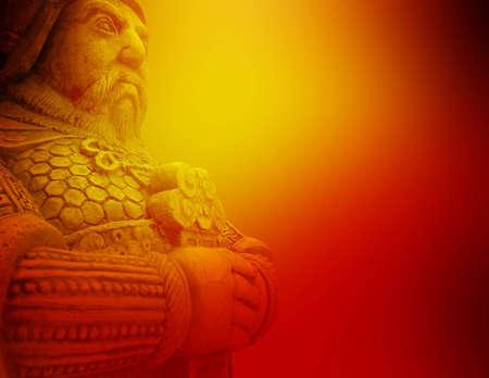 guerrero: Hermoso fondo de la antigua explotaci�n guerrero espada  Foto de archivo