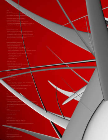 asymmetry: 3D background with futuristic shape. Stock Photo