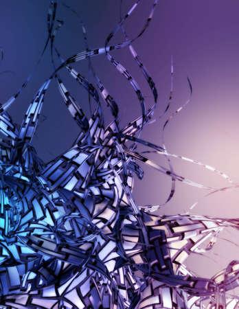 Three dimensional computer render. Standard-Bild