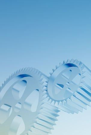 sprockets: High tech industrial background