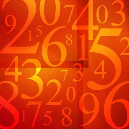 Numbers arranged randomly.