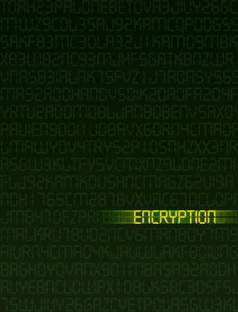 encrypted: Computer illustration related to data encryption.
