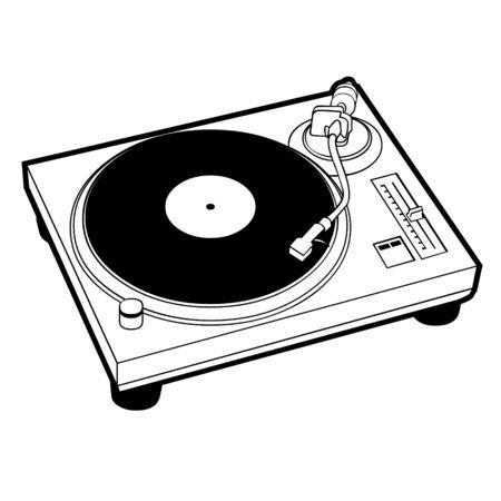 DJ turntable Standard-Bild