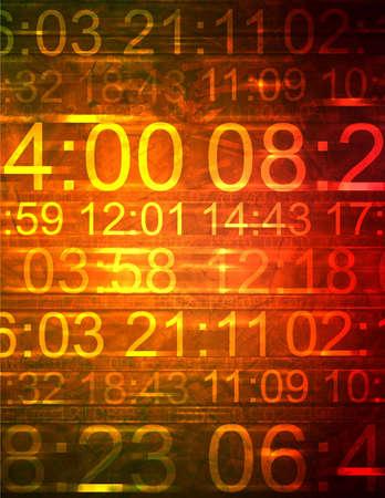 Bunte Computerabbildung, die unterschiedliche Zeiten anzeigt. Standard-Bild - 294429