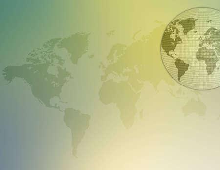 World map illustration with binary code on it. 版權商用圖片 - 294424