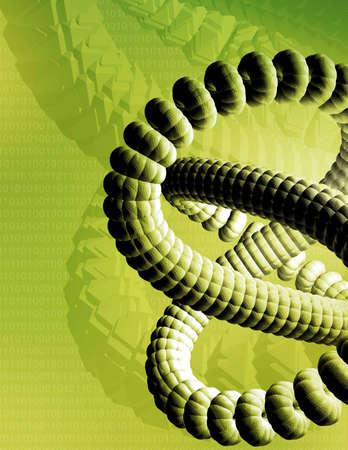raytrace: High tech new media computer illustration