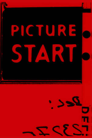 hollywood movie: Picture start frame of 35 mm motion film Stock Photo