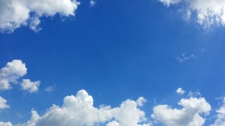 gentle: Gentle blue cloudy sky frame