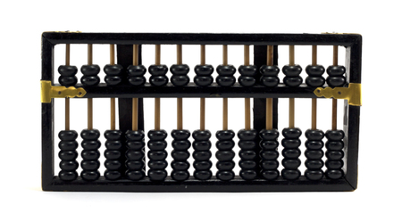Abacus isolated on white background