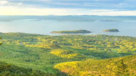 Islands of Cadillac Mountains Stock Photo