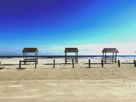 south texas: South Texas beach off the Gulf of Mexico. Stock Photo