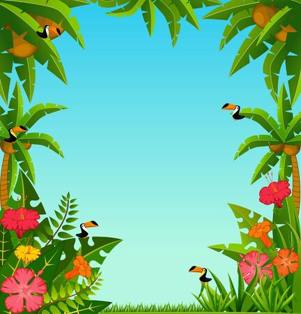 background with tropical plants Stock Photo - 7934209
