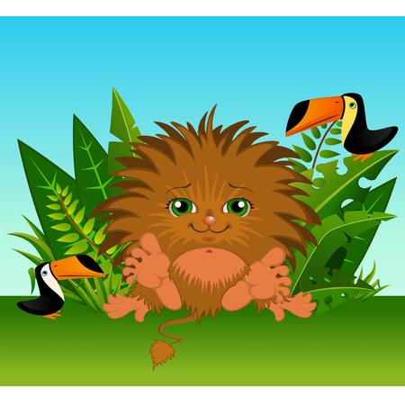 monkey suit: Funny little wild animal