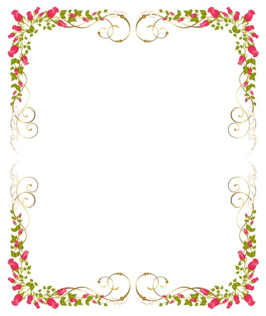 green frame:  beautiful bouquets from roses is isolated on the white
