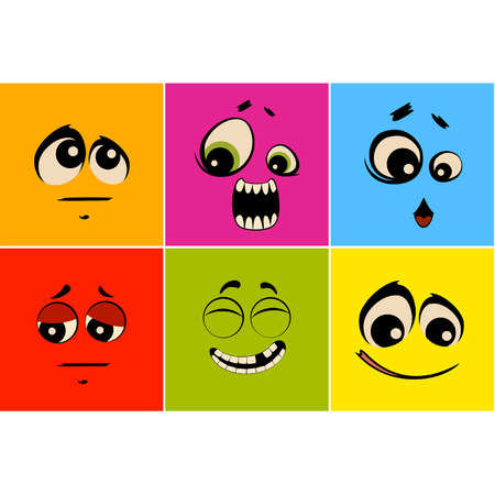 Vector set of mimic miens Stock Vector - 8283410