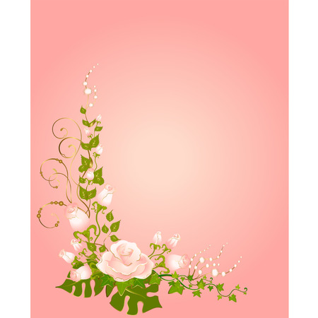 ivy: beautiful bouquets from roses Illustration