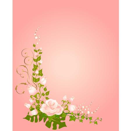 yedra: hermosos Ramos de rosas