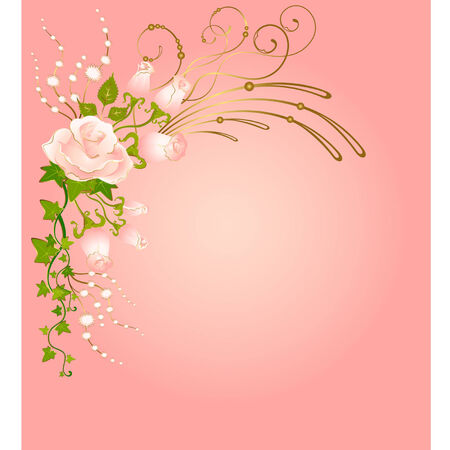 beautiful bouquets from roses Vector