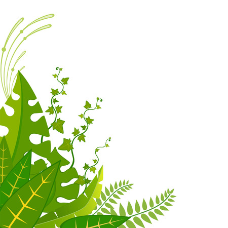 Beautiful background with tropical plants Stock Vector - 8283420