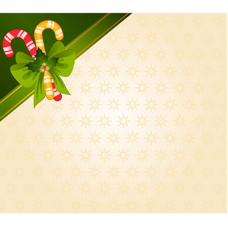 candycane: Christmas candy cane decorated bow Illustration