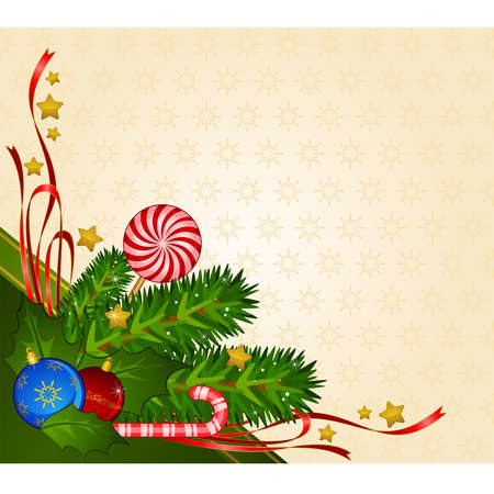 boll: Christmas decoration with candy cane and bolls
