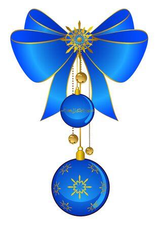 bolls: Christmas bow with bolls Stock Photo