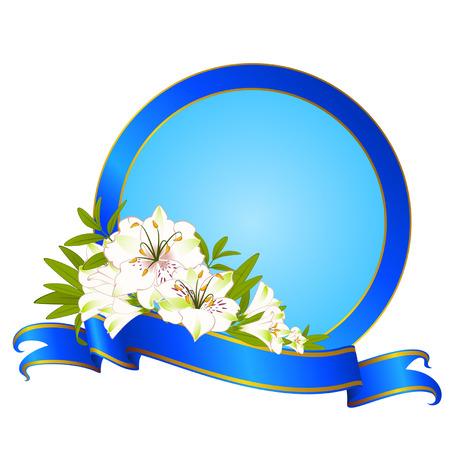 botanics: Beautiful frame with Lily
