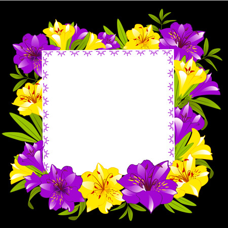 Beautiful frame with Lily