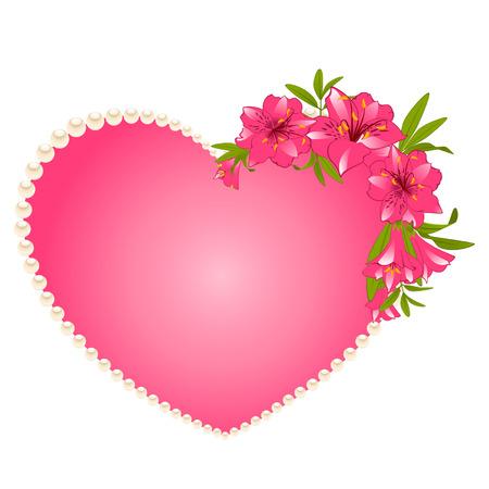 botanics: Beautiful Lily bouquet with hearts