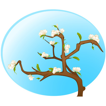 Beautiful bonsai with flowers Stock Vector - 9092651