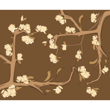 Beautiful background with flowers Stock Vector - 9092616