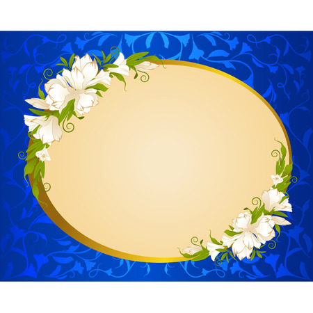 Beautiful background with flowers Stock Vector - 9092661