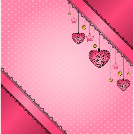 Beautiful background with lace ornaments and flowers Vector