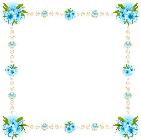 Schöner Hintergrund mit Spitze Ornamenten und Blumen. Standard-Bild